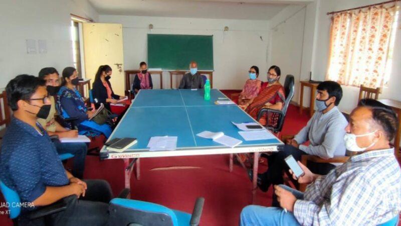 राजकीय महाविद्यालय चन्द्रबदनी (नैखरी) की मीटिंग संपन्न