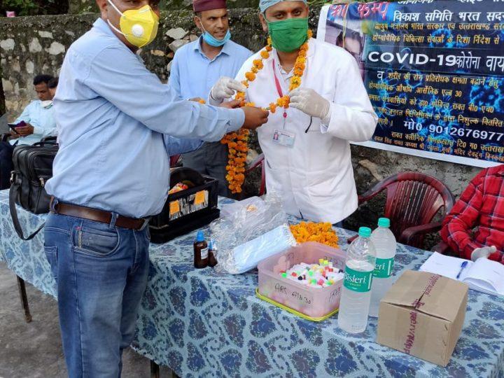 डॉ.रावत लगातार स्वास्थ्य शिविरों के आयोजन से कर रहे सच्ची जनसेवा