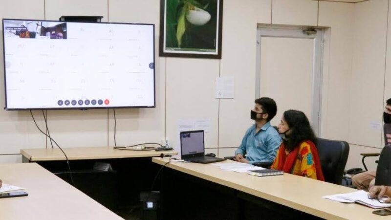 कृषि वानिकी एवं आजीविका उपार्जन विषय पर एक आनलाईन वेबीनार का आयोजित