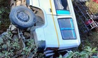 बागेश्वर में मैक्स दुर्घटना, 8 घायल