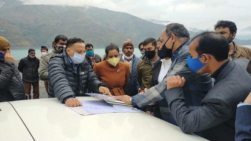 पर्यटन सचिव ने पर्यटन संबंधी गतिविधियों व निर्माण कार्यो का किया स्थलीय निरीक्षण