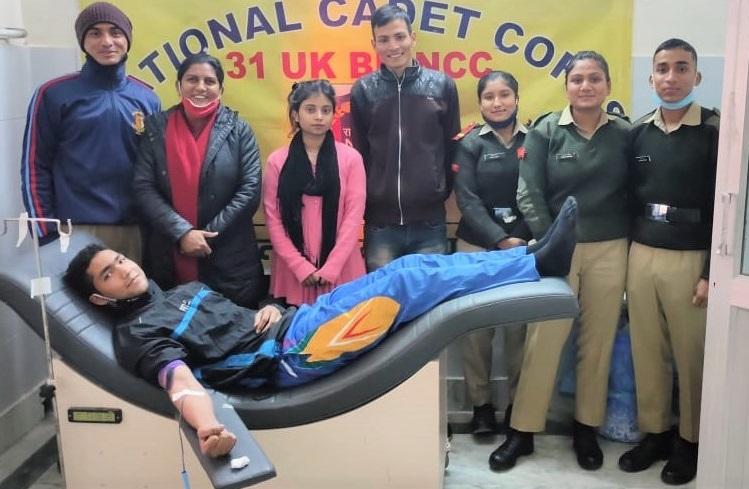 रक्त दान से महाविद्यालय कोटद्वार में  युवा पखवाड़े की शुरूवात