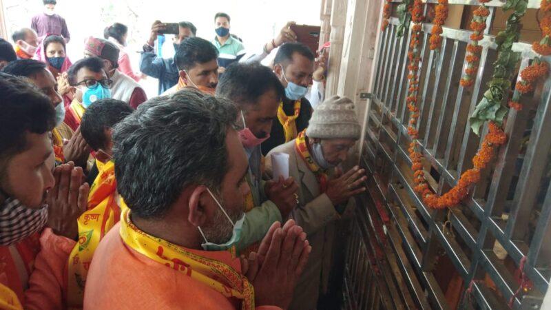 सिद्धपीठ ज्वालामुखी मंदिर पहुंचे प्रभारी मंत्री स्वामी यतीश्वरानंद, अष्टादश महापुराण में किया प्रतिभाग