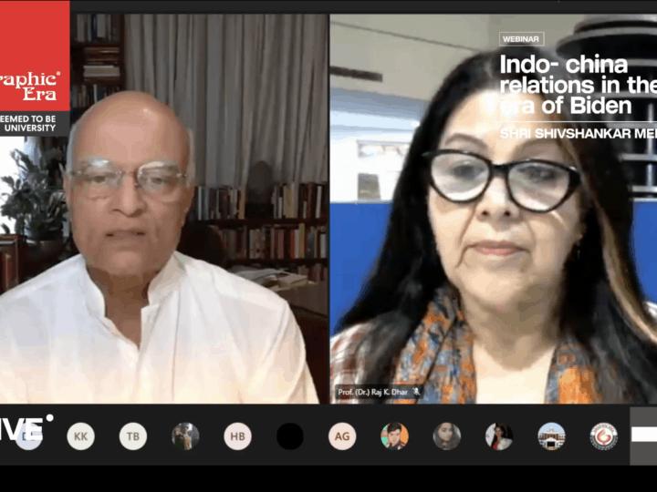 भारत-चीन रिश्तों में अभी कठिन समय – मेनन
