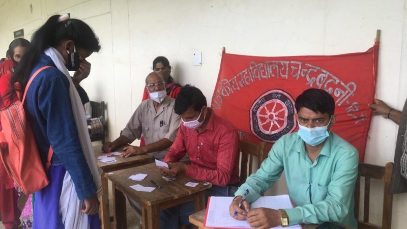 राजकीय महाविद्यालय नैखरी में आयोजित एक दिवसीय शिविर में 54 लोगों को लगाई वैक्सीन