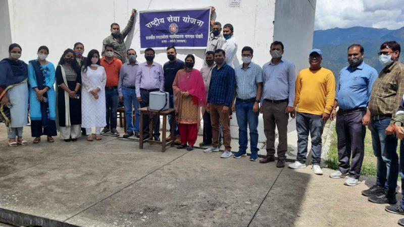 महाविद्यालय नागनाथ पोखरी में कोविड-19 वैक्सीन कार्यक्रम संपन्न