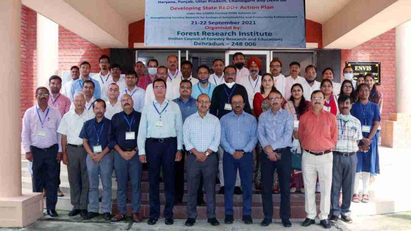 एफआरआई, देहरादून में राज्य वन विभाग के लिए रेड+ का आयोजन