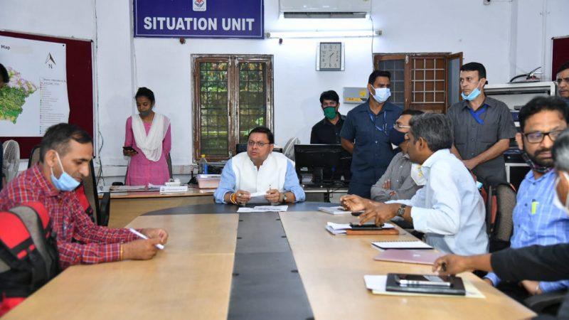 मुख्यमंत्री ने सचिवालय स्थित आपदा कंट्रोल रूम से प्रदेश के हालात का लिया जायजा